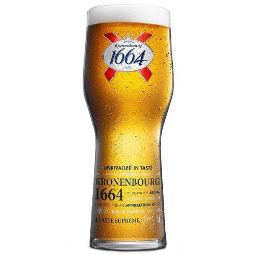 Kronenbourg Lot de 4 verres à demi Marquage CE 568 ml