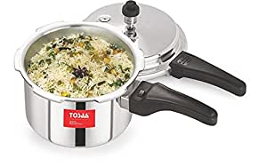Tosaa Ultra Delux Aluminium Pressure Cooker, 1.5 Litres, Silver