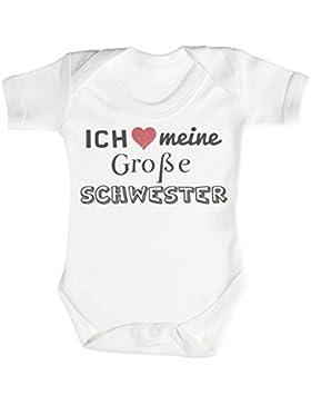 SR - Ich meine große schwester Baby Strampler - Baby Body Suit - Baby Jungen Strampler - Baby Mädchen Strampler