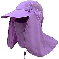 Leisial Sombrero Pesca del Sol Gorra al Aire Libre de Protección Solar  Transpirable Cap Sombrero de c7e9a24bb04