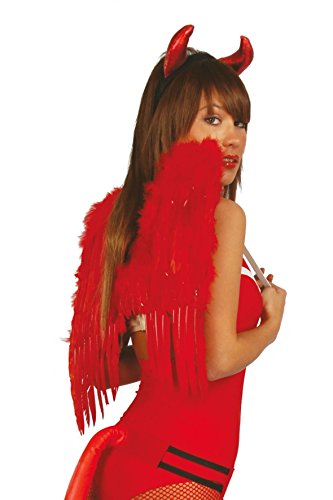 Rote Federflügel Halloween Horror Engel Teufel Flügel 50 cm Rot ()