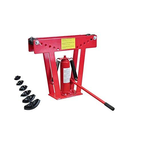 taofuzhuang Cintreuse-Presse à cintrer hydraulique 12 T + 6 Matrices Quincaillerie Outils Plieuses de tuyaux et Barres