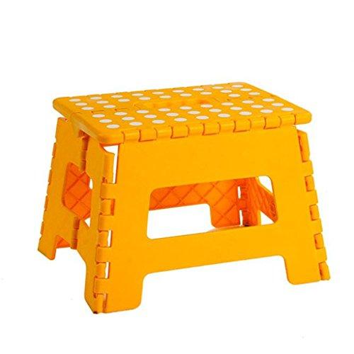 CS Tabouret Pliant Portable Outdoor Pique-Nique Chaise Pliante Enfants Chaise Plastique Tabouret de Table (Color : Yellow)