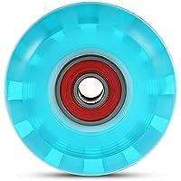 Zhuhaimei,4pcs Ruedas de patineta para Ollie Punk y Saltar(Color:Azul)