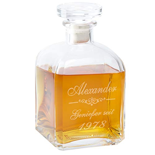 Geschenke 24: Whiskykaraffe Edel mit Gravur - personalisierte Whisky-Geschenke für Männer (Geschenk Für Männer Personalisierte)