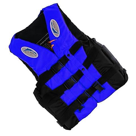 Ultraléger Réglable Gilet de Sauvetage Sécurité Veste Survie+Sifflet pour Natation Ski Nautique Canoë-kayak Adulte - Bleu