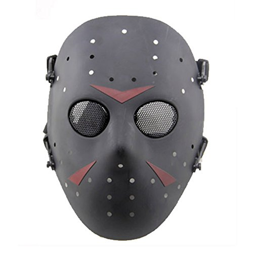 n Metall Mesh Maske Safeguard Full Face Schutz Maske für Halloween Masquerade Cosplay Kostüm Party (schwarz) (Halloween-kostüme Für Party)