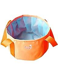 Sac d'eau extérieure pliable Lavabo Lavabo Lavabo Footbath Camping, Orange