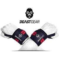 Protège-poignets Beast Gear – Bande de Support Poignet pour Haltérophilie, Musculation, Gymnastique, Bodybuilding, Crossfit – Protège et Soutien le Poignet lors du Sport