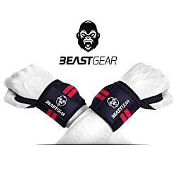 Beast Gear wrist bandage - 2x wrist support / wrist wraps for sports, fitness & bodybuilding - Stabilizing & protective - even with very high weights & loads