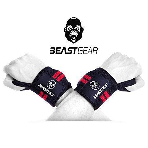 Beast Gear Handgelenkbandage - 2x Handgelenkstütze / Wrist Wraps für Sport, Fitness & Bodybuilding -Stabilisierend & Schützend - auch bei sehr hohen Gewichten & Belastungen