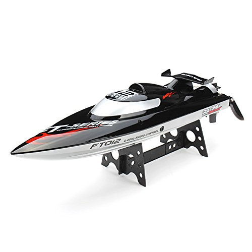 XT-XINTE FT012 2.4G Brushless RC Racing Boat RTR Speedboat Upgraded FT009 Schwarz