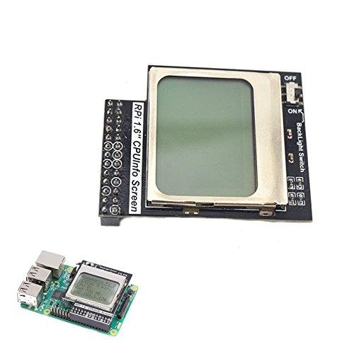 Ils - Praktische CPU Info 1.6 Zoll 84x48 Matrix LCD-Speicher Display-Modul mit Hintergrundbeleuchtung für Raspberry Pi Null/1/2/ -