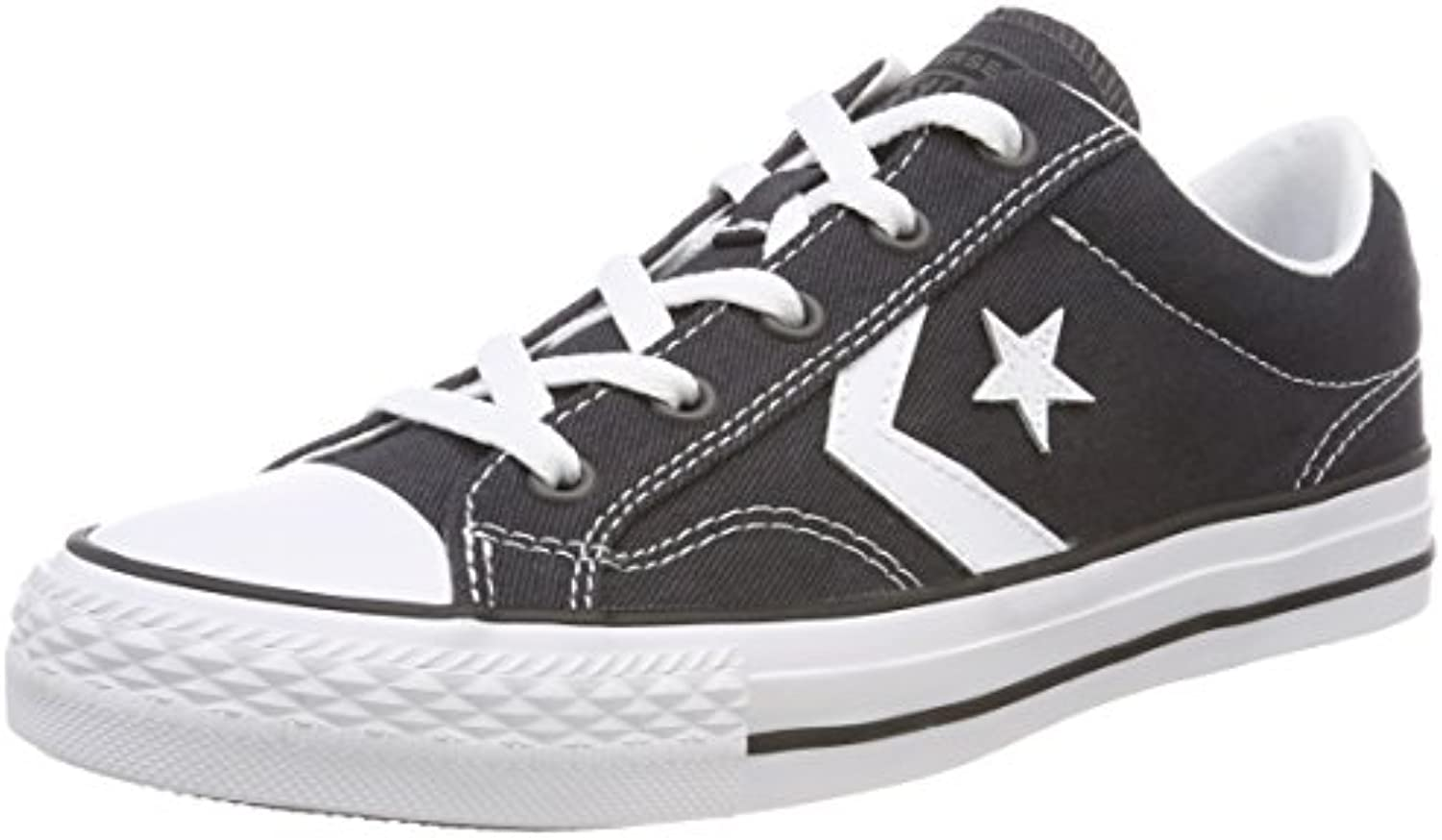 Converse Star Player Ox Almost White/Black, Zapatillas Unisex Adulto