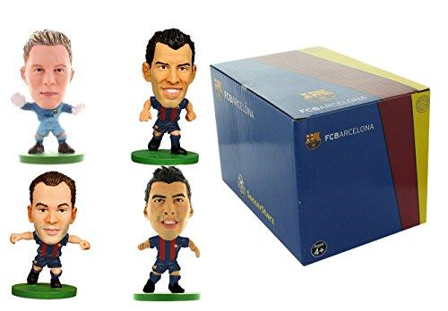 SoccerStarz Barcelona 4Player Pack B Mini Figuren und Szene Set (Barcelona-geschenk-set)