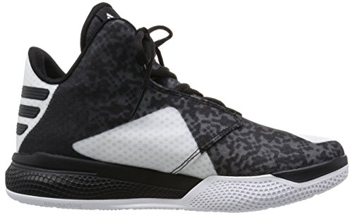 adidas Light Em Up 2, Scarpe da Basket Uomo Multicolore (Blanco / Gris / Negro (Ftwbla / Negbas / Onix))