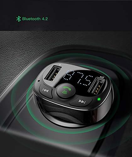 SKINGO Chargeur de Voiture Bluetooth MP3 4.2 Double U