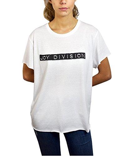 Joy Division Joy, Camiseta para Mujer, Blanco, S