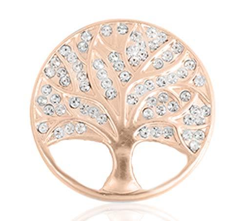 Treend24 Damen Magnet Brosche Lebensbaum Rosegold Schal Clip Bekleidung Magnetbrosche Poncho Taschen Stifel Textilschmuck Eule Herz stern