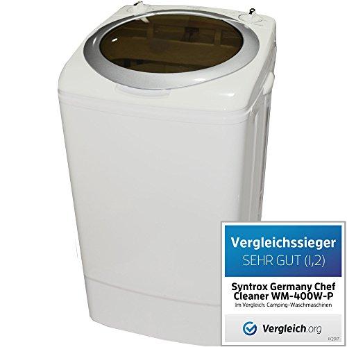 Syntrox Germany A 9 Kg Waschmaschine mit Pumpe und Schleuder Campingwaschmaschine Mini Waschmaschine