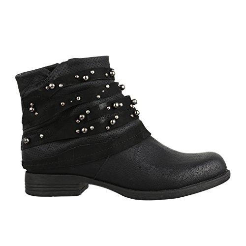 Elara Femmes Bottes De Motard Noir