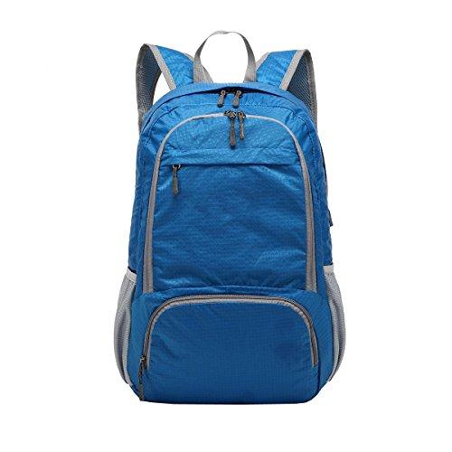 LAIDAYE Pieghevoli Leggeri Spalle Zaino Impermeabile Di Viaggio Affari Il Tempo Libero Multi-purpose Zaino Da Viaggio Blue