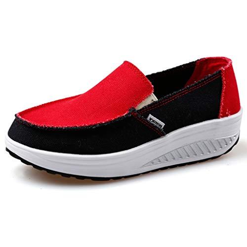 Sneaker Running Donna Scarpe Outdoor Multisport Donna Scarpe da Ginnastica Scarpe e Scarpe Sneaker Sportive Donna Tela Tinta Unita con Zeppa Casual Comode Mesh Piattaforma Traspirante Scarpe