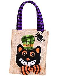 wonCacrostrans Halloween Süßigkeitstasche, Trick Süßes sonst Gibt's Saures Scherzt Kinderbeutel-Beutel-Süßigkeits-Geschenk-Handtasche