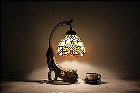 Lampe Tiffany - HOME-7 pouces lampe de table lampe de