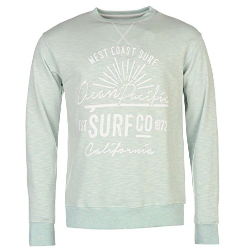ocean-pacific-herren-slub-sweatshirt-sweater-langarm-rundhals-pullover-print-blau-marl-extra-lge