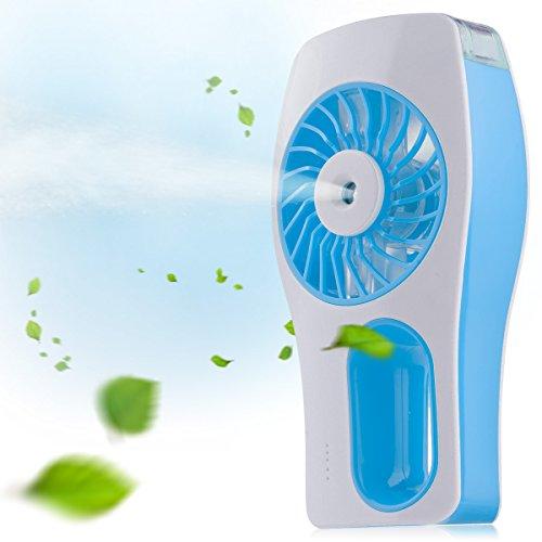 D-FantiX Tragbarer Lüfter, Nebel ventilator, Persönlicher Fan Luftbefeuchter für Schönheit, Haus, Büro und Reisen