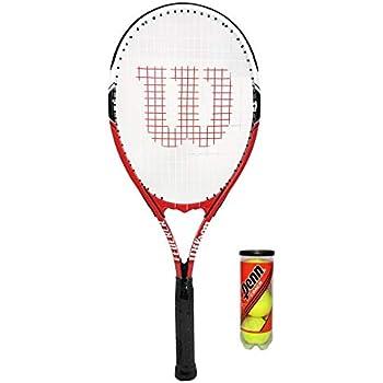 WILSON Federer - Raqueta de Tenis para Adultos + 3 Pelotas (Color ...