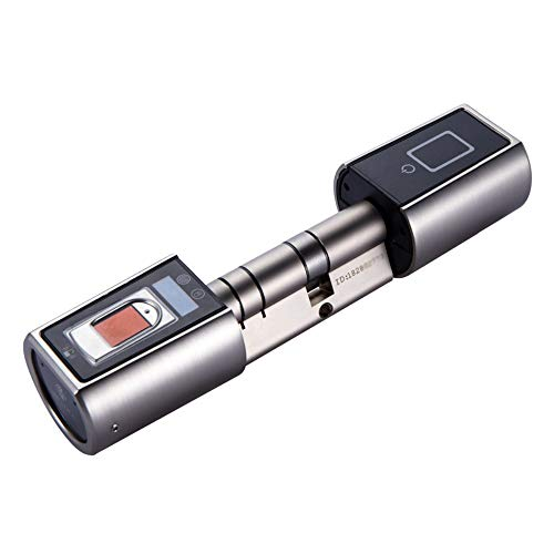 GAOPIN Smart Lock - Elektronischer Fingerabdruck Biometrische Türschloss, Keyless Türschloss wasserdichte Outdoor Smart Kleine App Türschlösser Für Zuhause