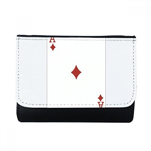 DIYthinker Diamond A Playing Cards Pattern Multi-Function Faux Leather Wallet Card Purse Gift