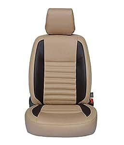 Autofurnish CZ-113 Beige Leatherite Car Seat Covers for Tata Safari Dicor 7S