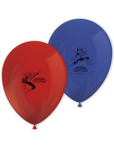 Procos 81536bedruckten Luftballons–Ultimate Spider Man, 8Stück, rot/blau
