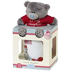 Me To You Set de regalo de taza y oso de peluche con mensaje Lovely Daughter