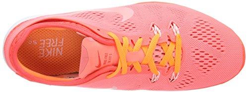 Nike Free 5.0 Tr Fit 5 Breathe Damen Hallenschuhe Rot (Lava Glow/White-Bright Crimson-Bright)