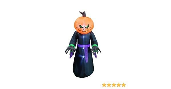 BZB Goods 8 Foot Illuminated Halloween Inflatable Pumpkin Overlord Decoration 200270