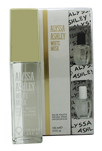 Alyssa Ashley White Musk EDT Spray Plus Moschus Öl, 100 ml/5 ml