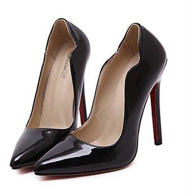 Moda Donna Sandali Sexy donna estate tacchi Peep toe PU Casual Stiletto Heel altri nero / blu / Giallo / Rosso Altri Blue