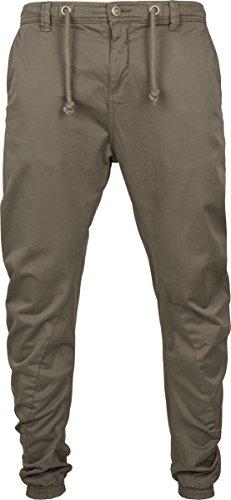 Urban Classics Herren Sporthose Stretch Jogging Pants Grün (Olive 176)