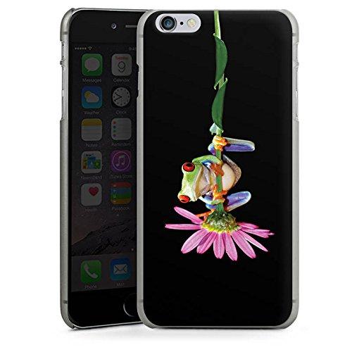 Apple iPhone X Silikon Hülle Case Schutzhülle Frosch Blume Frog Hard Case anthrazit-klar