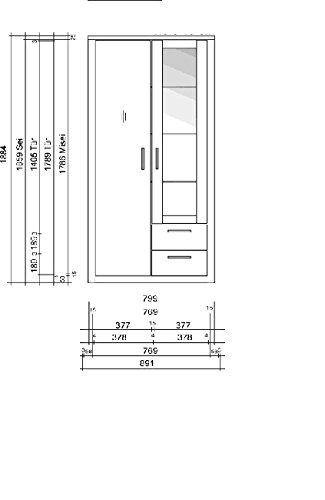 6-6-7-2326: made in BRD – schöne Glasvitrine – Vitrinenschrank – Wildeiche teilmassiv-geölt – Vitrine - 2