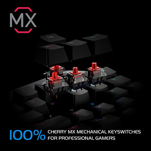 GameSir Z1 Mechanical Gaming Keybaord, Wired Game Keypad with Cherry MX Red Key Switches for Windows PC, Custom Colours Lighting with Multimedia Function Keys(Red)