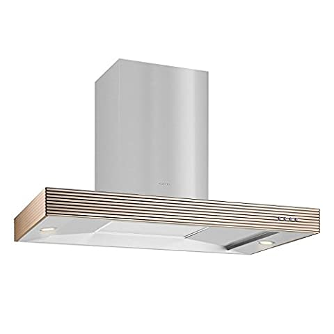 Klarstein Baremboin Cooker Hood Exhaust Hood (90 cm, 637m³/h extraction rate, 3 power levels, low operating noise, recirculation mode, energy efficiency class E) - silver