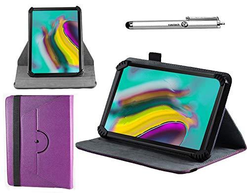 Navitech lila Ledertasche mit 360 Drehständer und Stift kompatibel mit dem RCA Voyager II Tablet 7 inch | RCA Voyager III 7 Inch