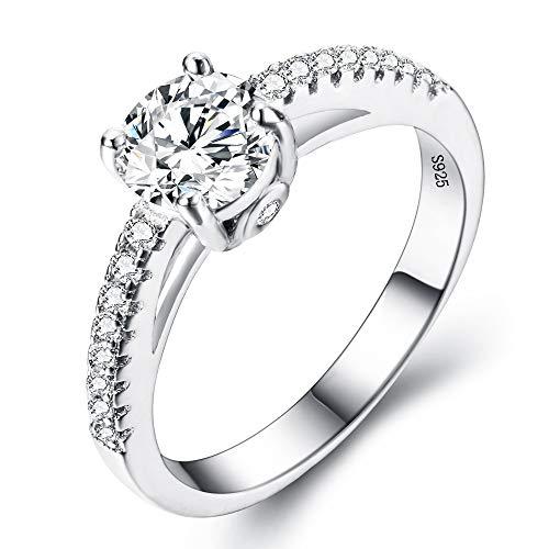 EVER FAITH® 925 Sterling Silber klassisch rund Cut CZ Engagement Ring - Größe 54 (17.2) N06649-2