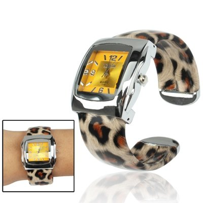 SPORTWATCHES Schöne Uhren, Mode-Leopard-Druck-Art-Stahlquarz-Armband-Armbanduhr