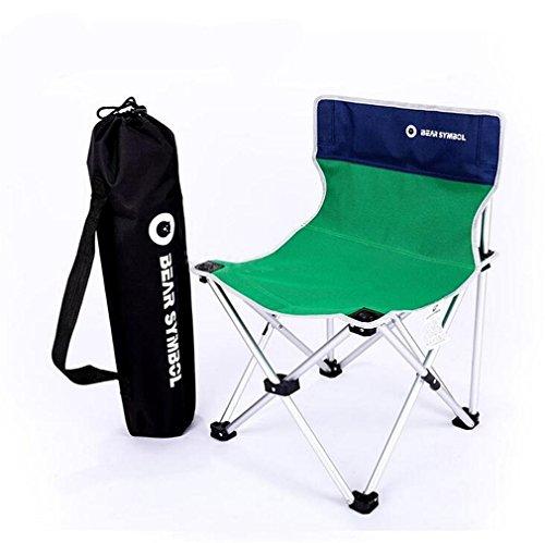 TTYY Chaise Pliante en Plein air Lune Chaise extérieure Pique-Nique Camping pêche Barbecue Plage, Green